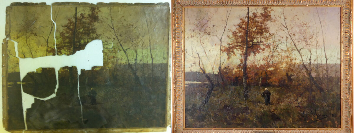 The Woodshed Gallery is known for high quality oil painting restoration.